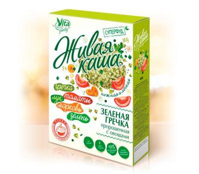 Зеленая гречка пророщенная с овощами Vita фото