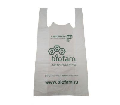 Пакет майка биоразлагаемый фото